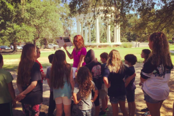 homeschooling in a park