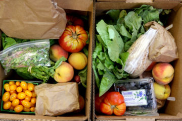 Food in a box from a Farmer's Market
