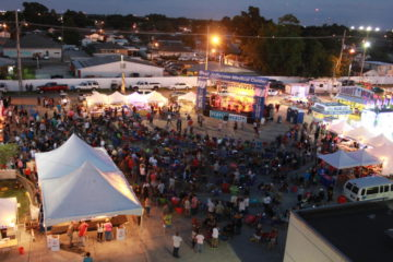 Crowd enjoying West Jeff's Family Fun Fest