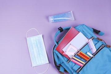 School supplies this year include mask and hand sanitizer